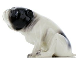 Hagen Renaker Pedigree Dog Bulldog Black and White Ceramic Figurine image 6