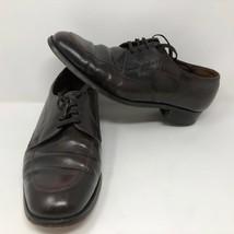 Florsheim 31884 Brown Leather Oxfords Dress Apron Toes Shoes Size 9.5 E Dress - $33.65