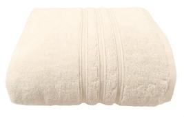 4 X Hotel Hospitality Cream Zero Twist Cotton 600 Gsm Bath Sheet Towels 90X140CM - $71.98