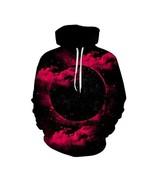 3d Digital Print Strange Night Star Sweatshirt Starry Sky Sweater with Hood - $28.25