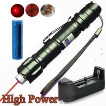Powerful Pet Toy Red Laser Pointer Pen 5mw 650nm Military Belt Clip+Batt... - $13.50