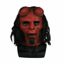 2019 HellBoy Movie Mask Cosplay Halloween Horror Red Demon Hell boy Mask - $36.49 CAD