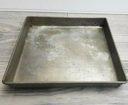"Antique Vintage WEAREVER Square Aluminum Cake Pan 8"" x 8"" x 1"" For Layer... - $12.77"