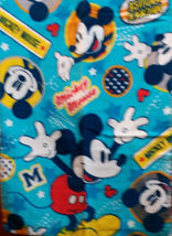 Mickey Mouse Blue Color 34 X 80 Cm Daily Easy Use White Color Cotton Towel - $10.99