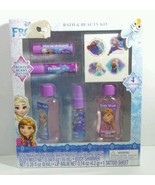 DISNEY FROZEN BUBBLE BATH SET FROSTED BERRY SCENT BODY MIST LIPBALM BODY... - $6.85
