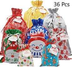 Christmas Wrapping Bag Festive Gift Favor Boxes Santa Name Tags Xmas Dra... - $58.04