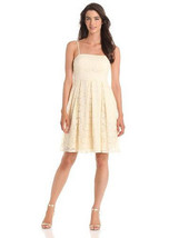 Isaac Mizrahi Corset Dress W/ Pleated Skirt Ivory Size 6 NWT! - $30.66
