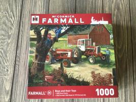 Masterpieces FARMALL IH tractor BOYS & THEIR TOYS 1,000 piece jigsaw puz... - $9.39