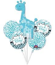 Sweet Safari Boy Animal Blue Baby Shower Party Decoration Mylar Balloon Bouquet - $18.17