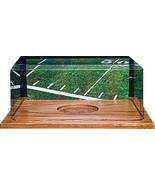 Football unsigned Display Case with Wood Base - $37.95