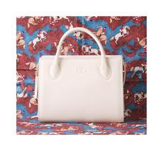aec318d824c Valentino Garavani bag Cream Beige Tassle Leather Tote handbag authentic...  -  440.00