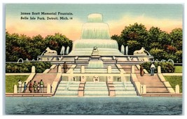 Vintage James Scott Memorial Fountain, Belle Isle Park, Detroit, MI  Pos... - $5.48