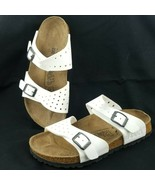 Birkenstock Birkis Freeport Perforated White Buckle Strap Sandals EU 36 ... - $31.84