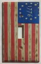 Betsy Ross star 1776 US Flag Wooden Switch Outlet wall Cover Plate Home Decor image 4
