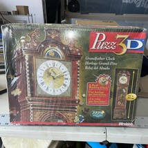 1997 Factory Sealed Puzz 3D Grandfather Clock 777pc Puzzle- Working Clock - $42.50