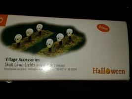 Dept 56 Accessories SKULL LAWN LIGHTS Polyresin Village Halloween 53218 - £18.01 GBP