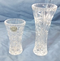 "Lenox Crystal Star Rose Bud Flower Vase Set of 2  4"" and 6"" Tall - $22.07 CAD"