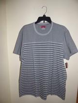 Alfani Red Crew Neck Slim Fit Striped T-shirt Silver XXL - $9.16