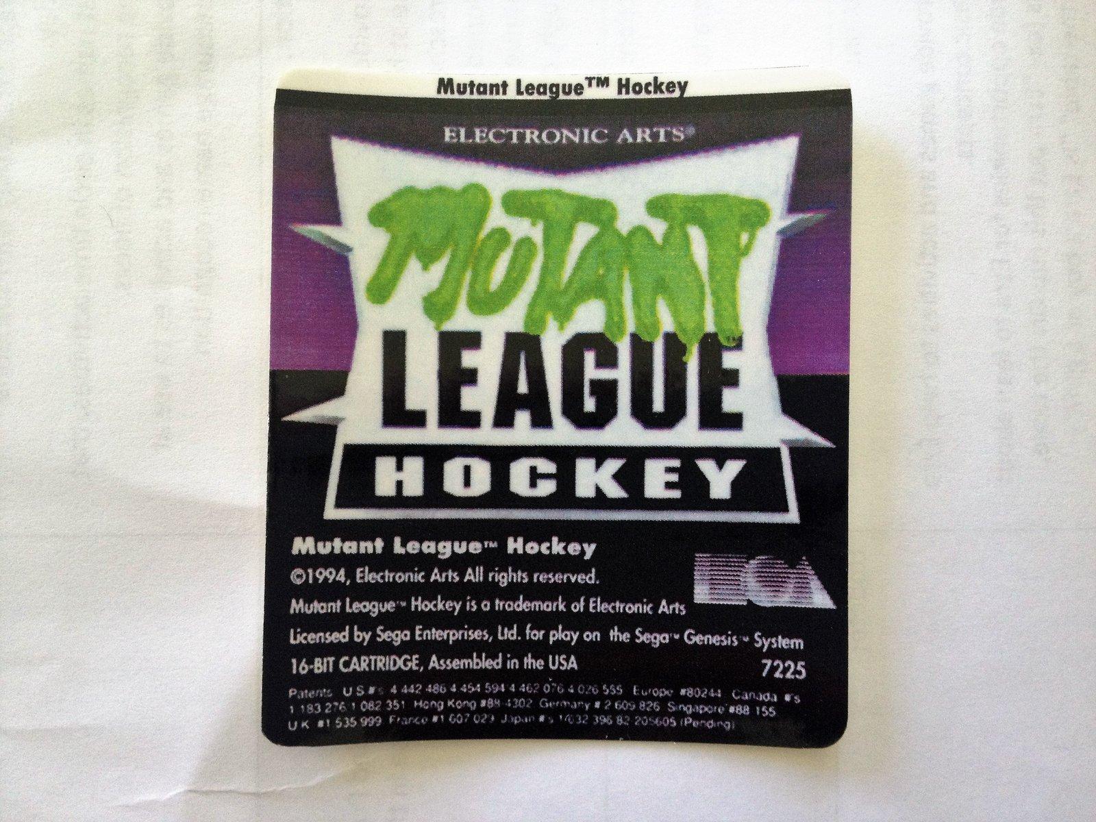Mutant League Hockey (Sega Genesis)  - High-quality Glossy Pre-Cut Laminated Rep