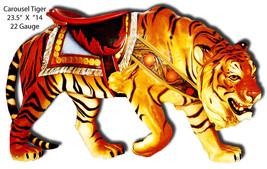 Carousel Tiger Laser Cut Out Wall Art 23.5X14 - $35.64