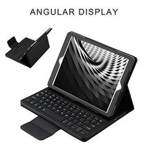 iPad Pro 12.9 Case Wireless Bluetooth Keyboard PU Leather Folio Cover Bl... - $58.43
