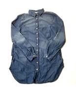 American Rag Lace Back High Low Denim Tunic Linda Wash X Small - $20.34
