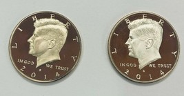 (2)  2014 S Kennedy Half Dollar Mint Clad Proof  2 Coin Set  - $52.75