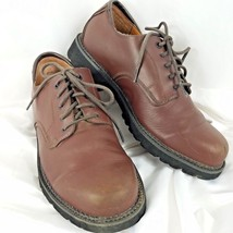 Rockport Mens Brown Leather Oxfords Size 9.5 W Lace Up Shoes Waterproof  - $44.55