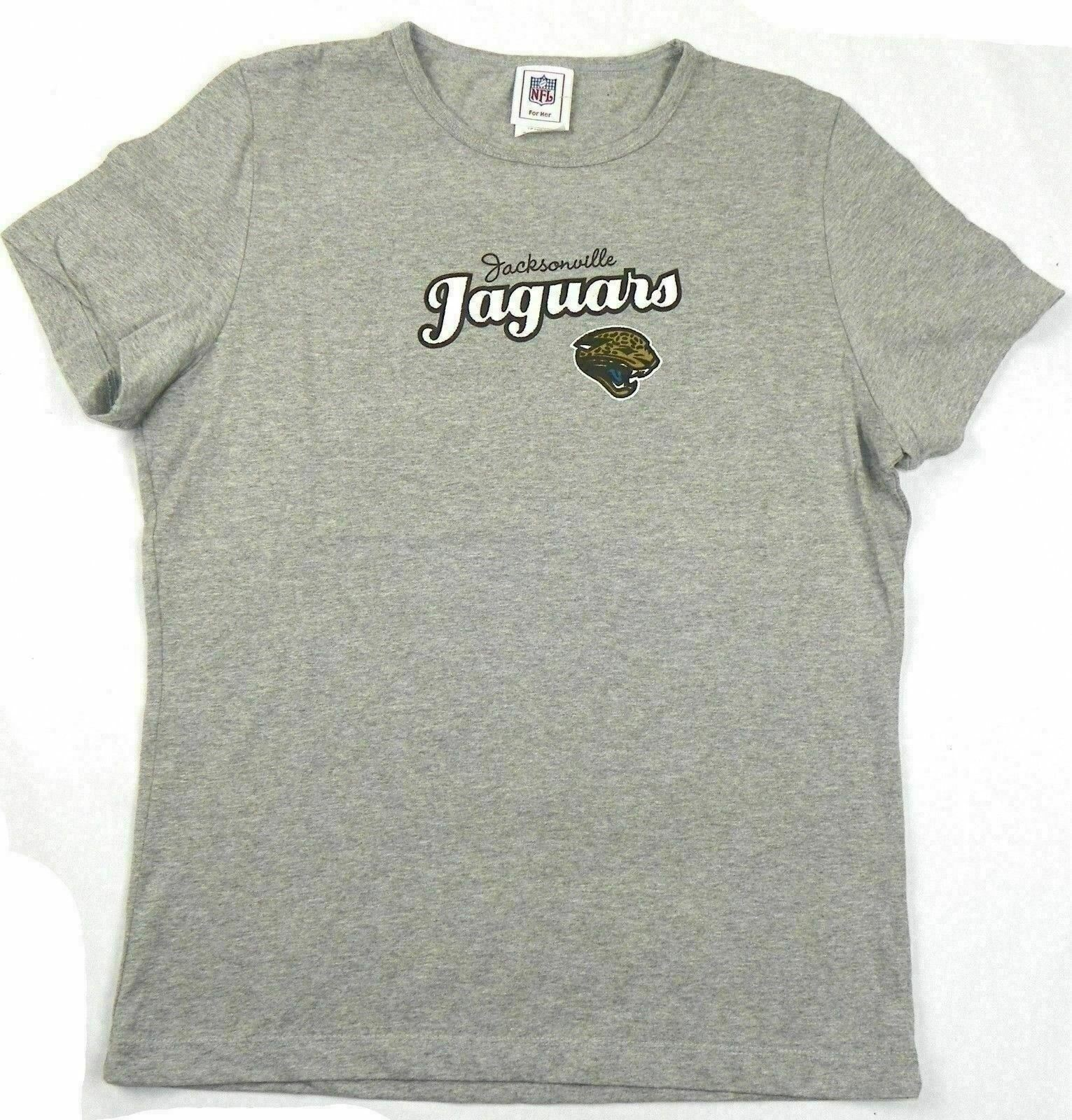 Junior Women's Size Large Jacksonville Jaguars Shirt Athletic Grey Tee