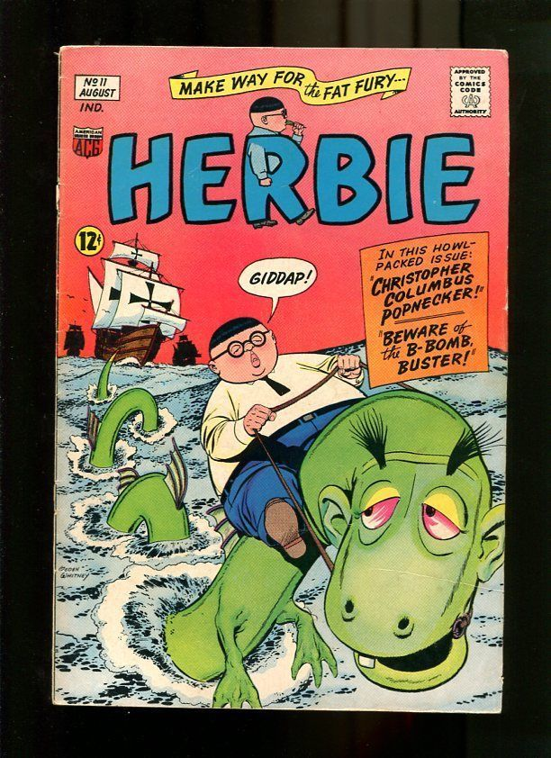 HERBIE #11-1965-RIDING ON A SEA MOSTER-FAT FURY-BARGAIN COPY P