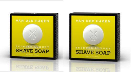 Van Der Hagen 2-Pack Scented Shave Soap 3.5 oz Hypo-Allergenic Shea Mango Cocoa - $7.67