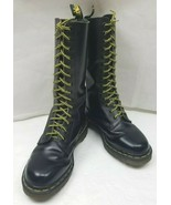 Doc Dr Martens 1940 Combat Boots England Mid Calf 14-Eye Black Womens US... - $179.80