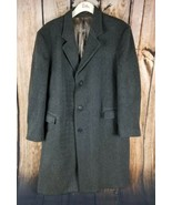 Wool Peterborough Row Bloomingdales 3 Button Heavy Gray Trench Coat XL W... - $57.27