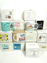 Vintage 80s Coffee Mug Novelty Ceramic Gift Lot of 25 Hallmark Shoebox G... - $128.65
