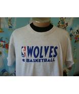 Vintage 90's Minnesota Timberwolves NBA Champion Practice T Shirt XL  - $49.49