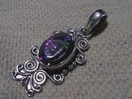 925 / 800 Silver Multicolored Mystic Topaz Pendant 7.4g (Hallmarked In The Uk) - $53.45