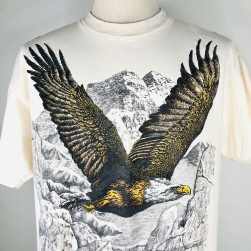 Primary image for VTG Bald Eagle T Shirt Mens Size XL PowerPro Oneida Northwoods Scout Reservation