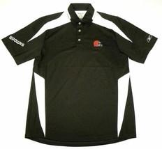 X-Small Cleveland Browns Polo Men's Afterburn NFL Football Reebok PlayDry Shirt