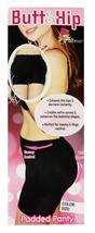 BRAND NEW WOMEN'S FULLNESS BUTT HIP PADDED ENHANCER SHAPEWEAR PANTY BLACK 8019 image 4
