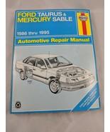 Haynes Ford Taurus Mercury Sable 1986 thru 1995 Repair Manual - $7.95