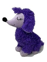 "Sugar Loaf KellyToy Plush Girl Poodle Puppy Dog Purple Curly Stuffed Animal 11"" - $9.99"