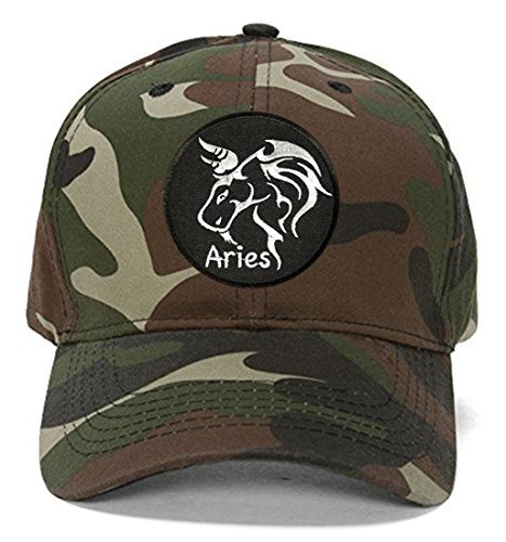 Aries Hat - Style Color Options - Zodiac Sign Cap (Camo)