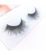 3D Mink Messy Silver Glitter Long False Eyelashes Sequin Eyelashes Shimm... - $19.50