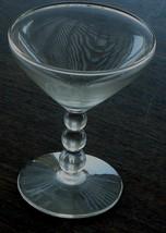 Very Nice Vintage Pressed Glass Champagne Glass, Short Ball Stem, VG CND - $7.91