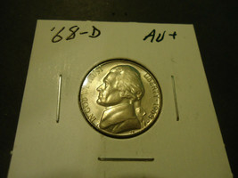 1968-D JEFFERSON NICKEL COIN          >> S & H + C/S  - $1.98