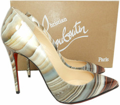 Christian Louboutin PIGALLE  Pumps Shoes 36 AGATE Patent Leather Pointy ... - $499.99