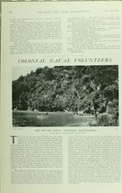 1902 PRINT COLONIAL NAVAL VOLUNTEERS PETONE ARTILLERY SHIP COVE - $64.32