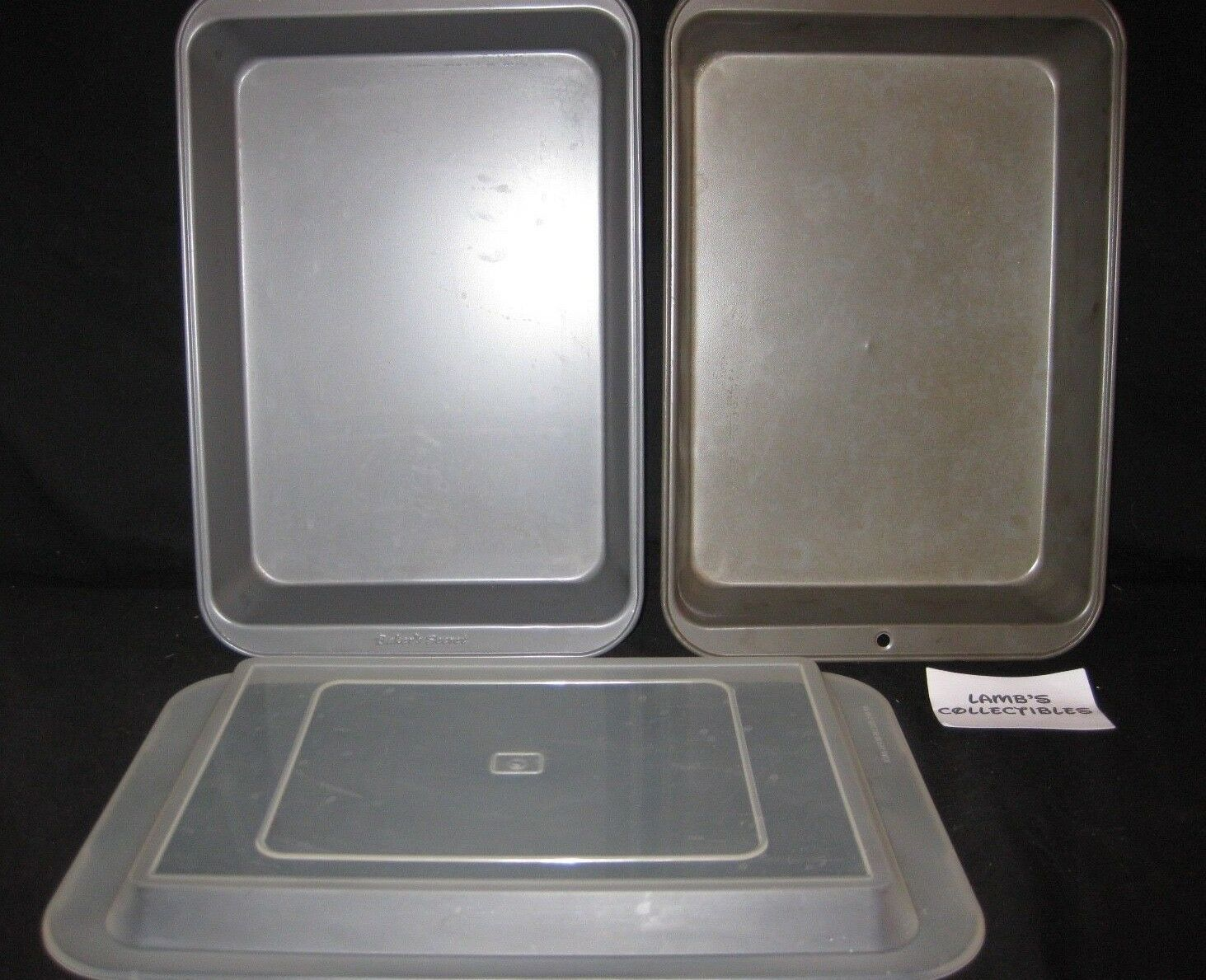 "Primary image for 12"" x 8"" x 2"" set of two metal baking pans - one Baker's Secret, one unbranded"