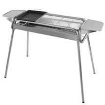 Barbeque Charcoal Grill Stainless Steel Foldable with Grill Pan BBQ for ... - £81.87 GBP