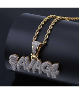 18K Gold Iced Out Diamond Savage Pendant Necklace - $28.99
